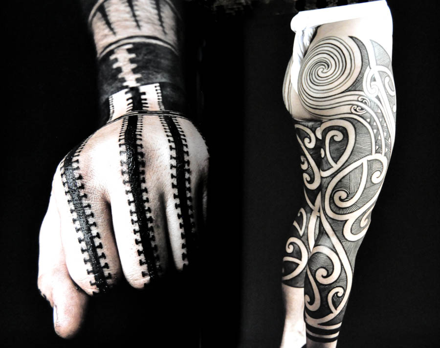 margot mifflin 39 s blog black tattoo art 2 modern expressions of the tribal november 15 2013. Black Bedroom Furniture Sets. Home Design Ideas